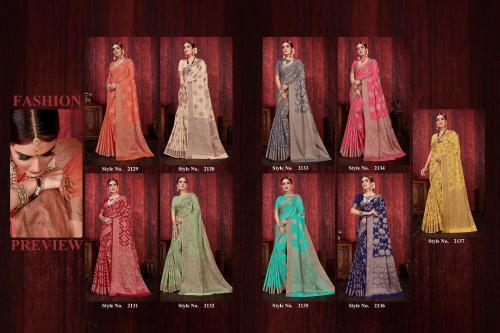 Elina Fashion Aasopalav Silk 2129-2137 Price - 8910