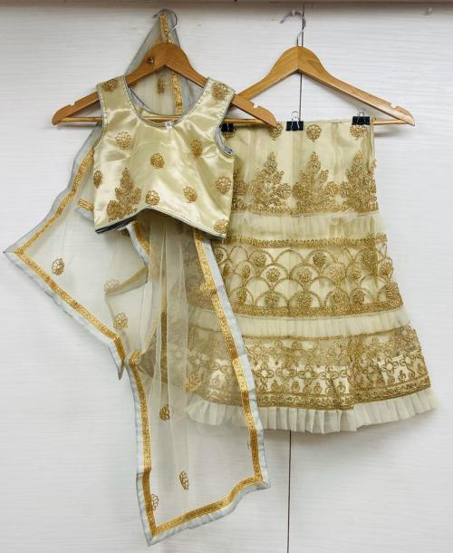 AJ 1001-1004 Designer Satin Silk Partywear Kids Lehenga