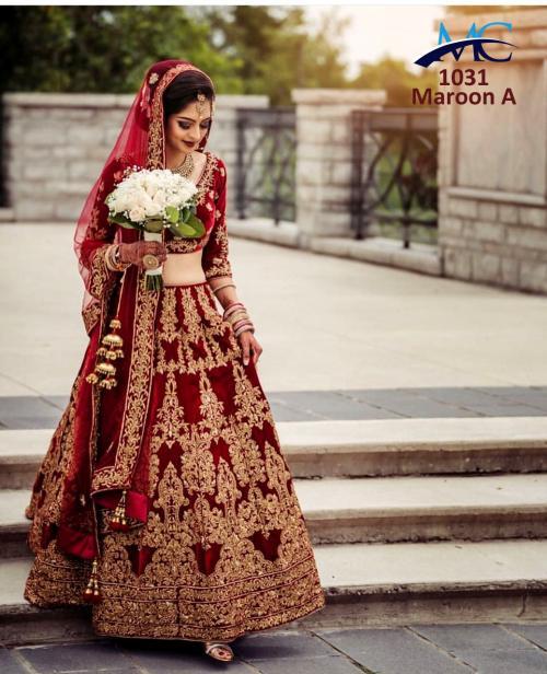 MC 1031 Colors Velvet Heavy Designer Wedding Lehenga Choli