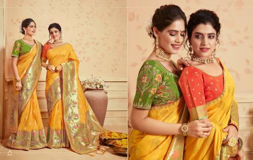 Kessi Fabric Saree Saugat Silk 3831-3840 Series