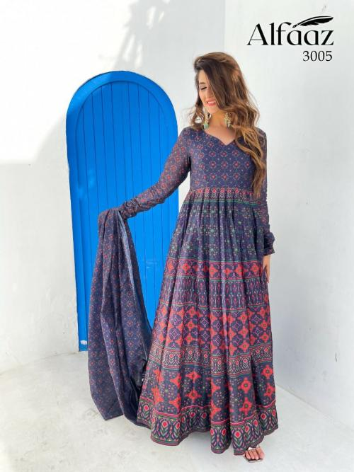Alfaaz Vol-3 Designer Gown 3005 Price - 1399