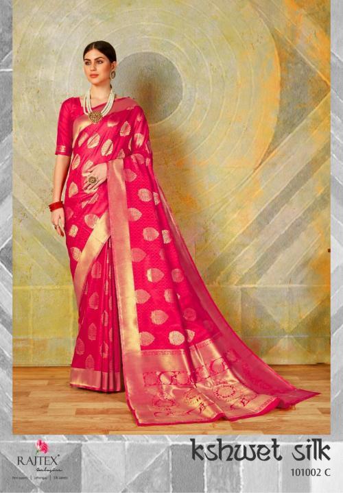 Rajtex Kshwet Silk 101002 C Price - 1460