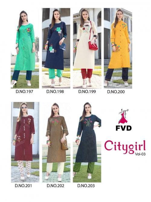 Fashion Valley Dress City Girl 197-203 Price - 4900