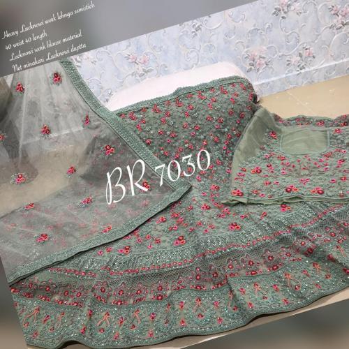 BR Lehenga Choli Lucknowi Work BR-7030-A Price - 4459