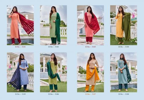 Kessi Rangoon Foxtail 3181-3188 Price - 7400