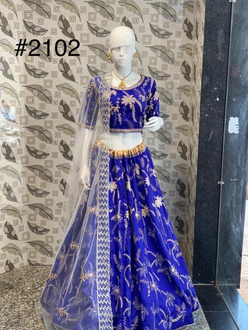 Bollywood Designer Blue Lehenga 2102 Design