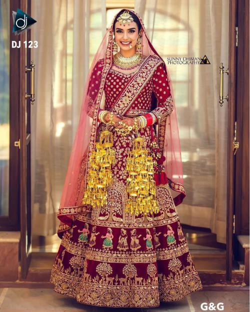 DJ Bridal Wedding Wear Lehenga DJ-123-A Price - 4650