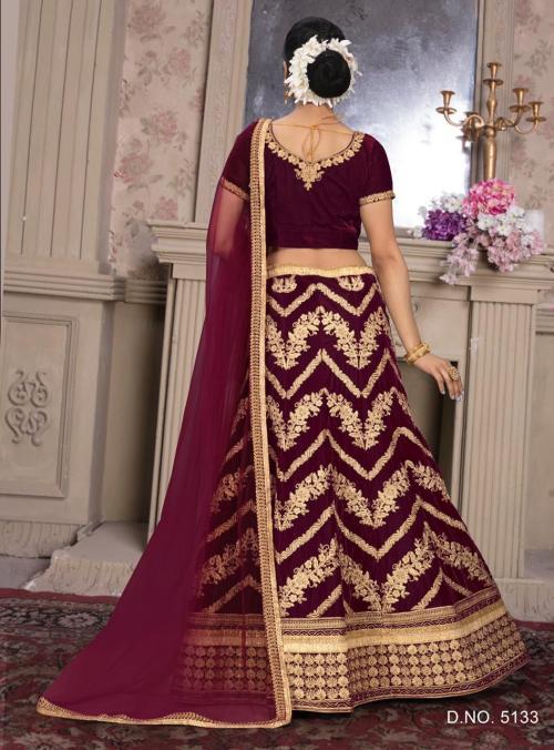 Bollywood Maroon Designer Lehenga 5133 Price - 2985