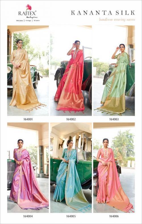 Rajtex Saree Kananta Silk 164001-164006 Price - 8970