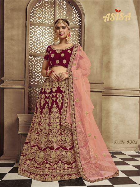 Asisa Bridal Lehenga 6001-6006 Series