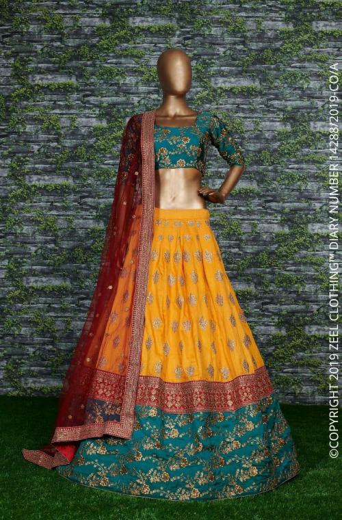 Zeel Heavy Bridal Lehenga Choli ZC-7001 Price - 3150