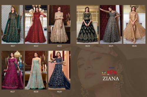 Vipul Fashion Ziana 4621-4629 Price - 32682