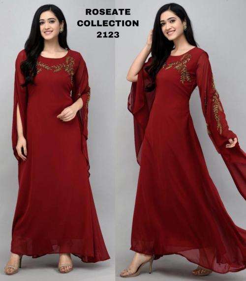 Bollywood Designer Roseate Gown 2123-A Price - 1300
