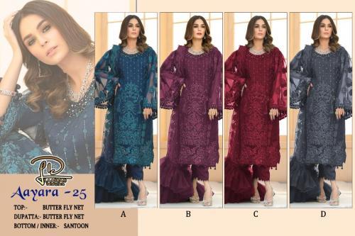 Laaibah Designer Aayra 25 Colors  Price - 4100