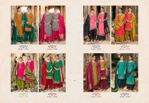 Kessi Fabric Lashkara 5751-5758 Price - 7520