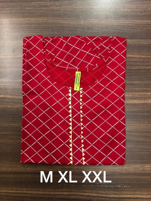 Non Catalog Jaipuri Rayon Print Kurtis A Price - 325