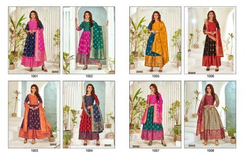 Rahul Nx Minakari Gown 1001-1008 Price - 5360