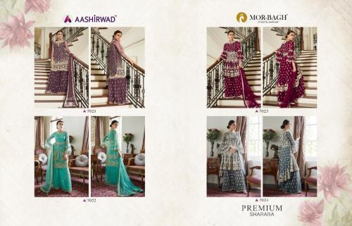 Aashirwad Creation Premium Sharara 7021-7024 Price - 11580